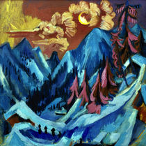Kirchner / Winter landscape in moonlight, 1919. by AKG  Images
