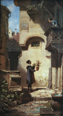 Spitzweg / The Congratulator /  c. 1855 by AKG  Images
