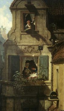Spitzweg / Love Letter / Painting, 1860 by AKG  Images