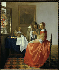 Vermeer / The Girl with the Wine Glass /  c. 1659/60 by AKG  Images