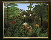H.Rousseau, Kampf eines Jaguars.. von AKG  Images