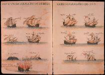 portug. Flotte unter Cabral 1500 von AKG  Images