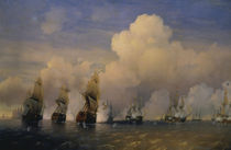 Naval battle nr Kronstadt 1790 / Bogolj. by AKG  Images