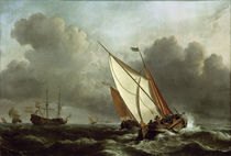 W. v. d. Velde, Ships in a Stormy Sea by AKG  Images
