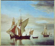 W. van de Velde, Schiffe auf ruhiger See by AKG  Images