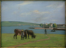 A.Sisley, Kühe am Ufer der Seine in Saint-Mammès by AKG  Images