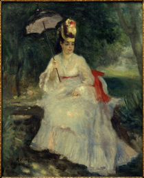 Woman with Parasol in the Garden / A. Renoir / Painting, 1872 by AKG  Images