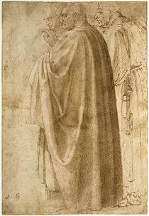 Michelangelo, Drei stehende Männer in weiten Mänteln von AKG  Images