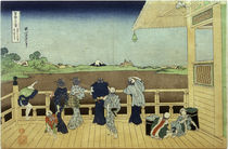 Hokusai, Halle Sazaidô des Tempels Gohyaku-Rakanji by AKG  Images