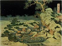 Hokusai, Fischen mit Fackeln / Farbholzschnitt 1832–34 by AKG  Images