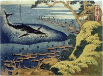 Hokusai, Walfischfang / Farbholzschnitt 1832–34 by AKG  Images