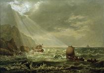 J.C.C.Dahl, Schiffbruch vor Capri by AKG  Images