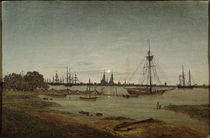 Harbour in Moonlight / C.D.Friedrich / Painting 1811 by AKG  Images
