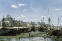 Harbour at Low Tide / S. Lépine / Painting 1859 by AKG  Images