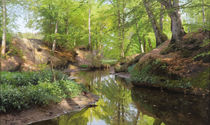 Peder Mørk Mønsted, Sunny Day at the Forest Stream by AKG  Images