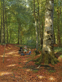 Peder Mørk Mønsted, In the Forest Clearing by AKG  Images