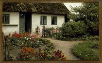 Peder Mørk Mønsted, Reading in the Flower Garden by AKG  Images