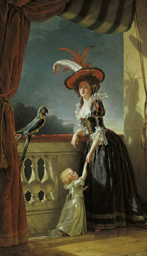 Louise Elisabeth of France / Painting by AKG  Images