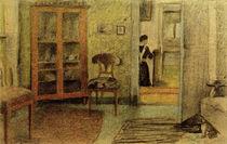 A.Macke, Unser Wohnzimmer..., 1910 von AKG  Images