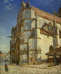 A.Sisley, The church at Moret by AKG  Images