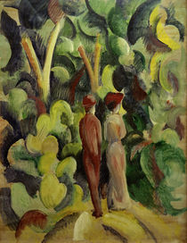 A.Macke, Couple on forest path, 1913 by AKG  Images