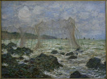 Monet / Fishing nets in Pourville by AKG  Images