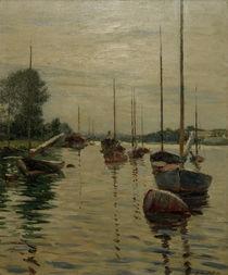 G.Caillebotte, Ankernde Boote auf d. Seine von AKG  Images