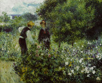 Renoir / Picking flowers / 1875 by AKG  Images