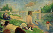 G.Seurat, Badeplatz bei Asnières (Studie) by AKG  Images