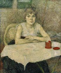 Toulouse-Lautrec, Junge Frau am Tisch by AKG  Images