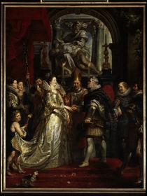 P.P.Rubens, Vermählung der Maria Medici von AKG  Images