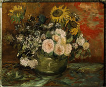 Vincent van Gogh, Roses and Sunflowers. by AKG  Images
