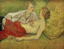 The Two Girlfriends / H. de Toulouse-Lautrec / painting 1895 by AKG  Images