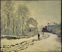 Monet / Snow in Argenteuil / Painting by AKG  Images