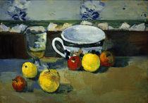 P.Cézanne, Tasse, Glas und Früchte II von AKG  Images