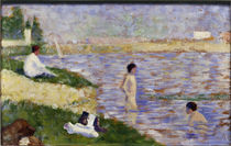 Seurat, Study for Swimming at Asnières by AKG  Images