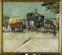 Van Gogh / Gypsy camp, horse-drawn wag. by AKG  Images