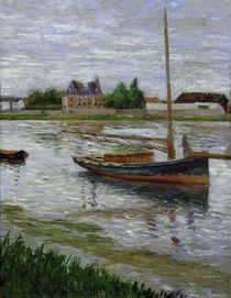 G.Caillebotte, Ankerndes Boot auf d. Seine von AKG  Images