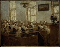 Liebermann, Nähschule  - Arbeitssaal im Amsterdamer Waisenhaus by AKG  Images