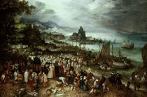 Seaport with Christ's Sermon / Brueghel by AKG  Images