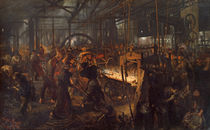 Iron Rolling Mill / A. v. Menzel / Painting, 1872–1875 by AKG  Images