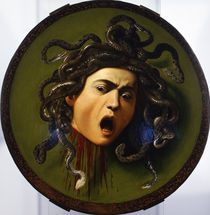 Head of Medusa / Caravaggio / Painting, c.1598/99 by AKG  Images