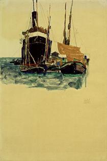 E.Schiele, Dampfer und Segelboote, Triest by AKG  Images