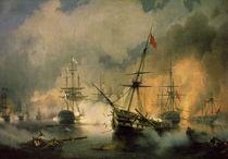 Sea battle of Navarino / Aivasovski by AKG  Images