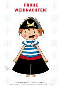 "Postkarte Pirat ""Rudi - der Heitere"" by Gosia Kollek"