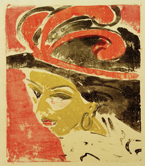 E.L.Kirchner / Cocotte wearing Hat with... by AKG  Images