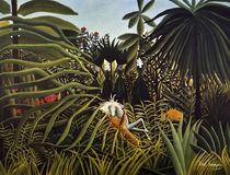 H.Rousseau, Kampf eines Jaguars... von AKG  Images