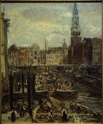 Hamburg,  Fleet am Hopfenmarkt / Gemälde von M. Slevogt von AKG  Images