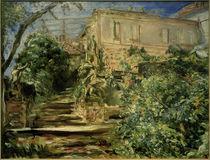 M. Slevogt, Der Garten in Neukastel mit der Bibliothek von AKG  Images
