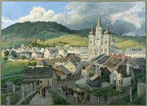 Mariazell mit Wallfahrtskirche /  Aquarell von E. Gurk by AKG  Images